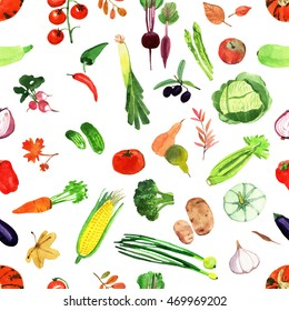 set of watercolor vegetables template for your design ez canvas