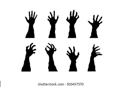 Zombie Hands Silhouette Images Stock Photos Vectors Shutterstock 5 transparent png illustrations and cipart matching zombie hand. https www shutterstock com image illustration set zombie hands isolated on white 503457370