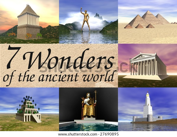 Seven wonders of the ancient world!!! 3D reconstructions.