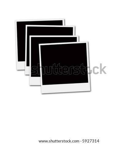 Several Instant Film Frames On Isolated Stock Illustration 5927314 ...