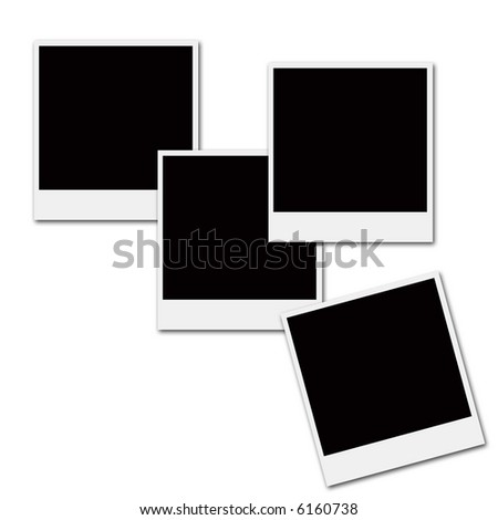 Several Instant Film Frames On Isolated Stock Illustration 6160738 ...
