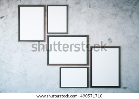 Royalty Free Stock Illustration of Several Picture Frames Hanging On ...