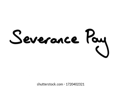 Severance Pay handwritten on a white background.