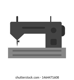 Sewing Machine Icon In Trendy Style Isolated Background