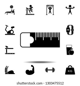 The sewing tape measure icon. Simple glyph illustration element of gym icons set for UI and UX, website or mobile application