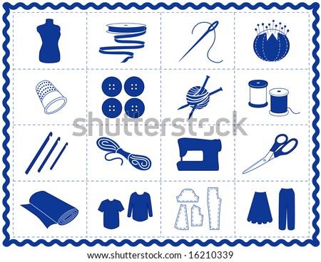 Sewing Tools Fashion Model Needle Thread Stock Illustration 16210339 ...