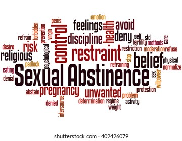 Sexual Abstinence, word cloud concept on white background.