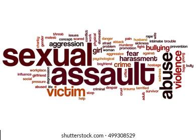 Sexual assault word cloud concept