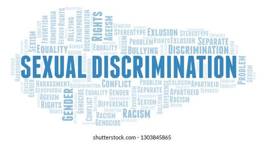 Sexual Discrimination - type of discrimination - word cloud.
