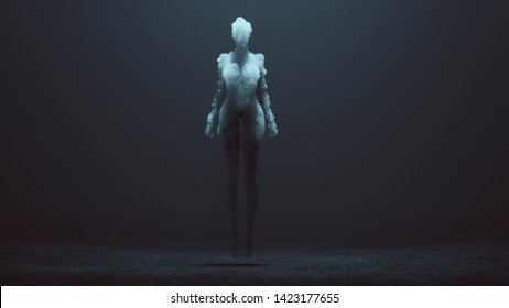 Sexy Smoke Ghost Spirit Floating in a Foggy Void 3d Illustration 3d Rendering