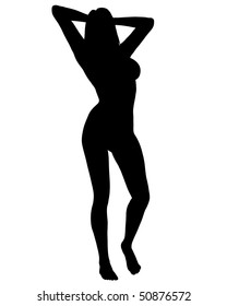 Sexy Woman Silhouette 04