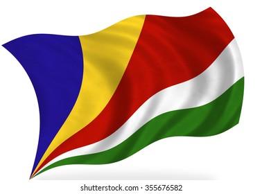 Seychelles  flag, isolated