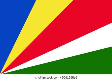 Seychelles flag ,Seychelles national flag illustration symbol.