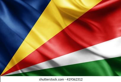 Seychelles flag of silk