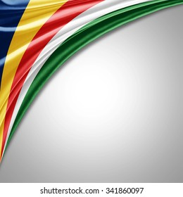 Seychelles flag   of  silk with copyspace for your text or images
