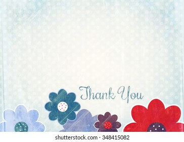 thank you note floral images stock photos vectors shutterstock