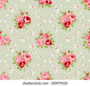 Shabby Chic Rose Patterns and seamless backgrounds.