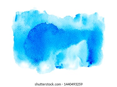 shades blue abstract watercolor background.creative illustration