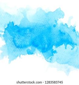 shades blue watercolor.drawn image