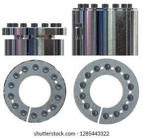 Shaft lock isolated on white. 3d rendering