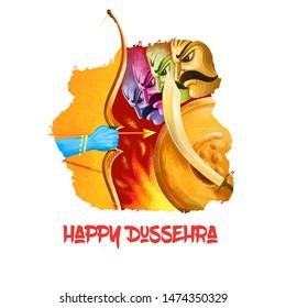 Shantanu Dussehra Dashain Hindu festival celebrated end of Navratri. Chandika Aparajita digital art illustration, t-shirt print, man with arrow. Vijayadashami Dasahara, Dusshera, Dasara, Maha Durga.