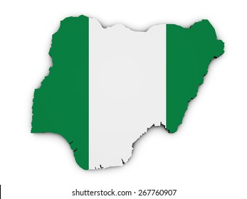 Nigeria map images stock photos vectors shutterstock shape 3d of nigeria map with nigerian flag illustration isolated on white background ccuart Choice Image
