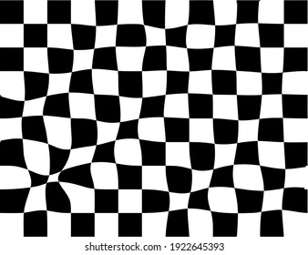 The shape of a chessboard pattern in the style of a flag