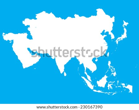 The Continent Of Asia Map.Shape Continent Asia Stock Illustration 230167390 Shutterstock