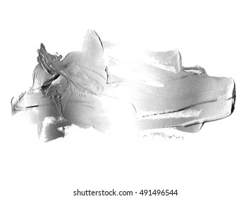 shapeless ink blot abstract silver