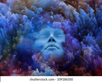 Shards of Dream series. Backdrop design of human face and colorful graphic elements to provide supporting composition for works on dreams, mind, spirituality, imagination and inner world