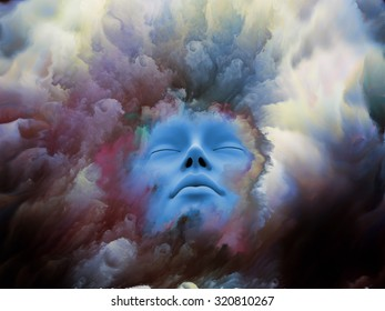 Shards of Dream series. Backdrop of  human face and graphic elements to complement your design on the subject of dreams, mind, spirituality, imagination and inner world