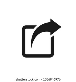 Share icon illustration. Share arrow icon for web, app and UI design