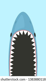 Shark with open mouth. Clipart image