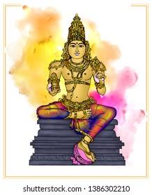 Shatabhisha – Varuna: Image of Varuna, the presiding deity of Shatabisha Nakshatra. He is of golden hue and holds a water pot and a rosary
