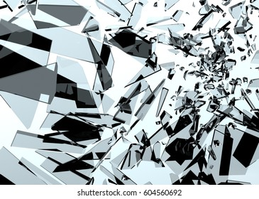 Shattered Glass (3D Rendering)