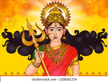 She is an Adi Parashakti, is a principal and popular form of Hindu Goddess.She is the warrior goddess.