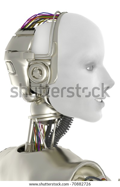 she is a robot side view