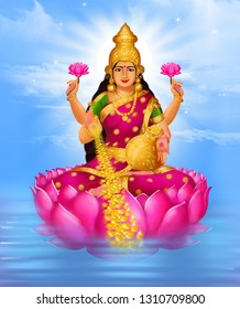 She is the wife and shakti (energy) of Vishnu, one of the principal deities of Hinduism and the Supreme Being in the Vaishnavism Tradition.With Parvati and Saraswati, she forms Tridevi, the holy trini
