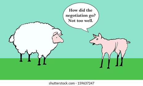 Sheep negotiation