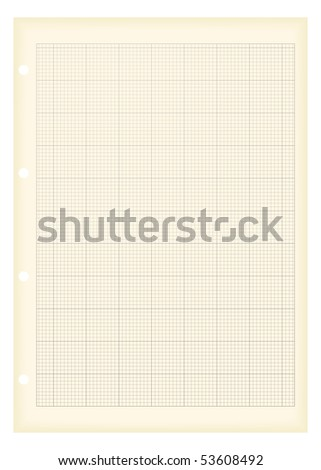 sheet a 4 graph paper aged grunge stock illustration 53608492