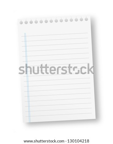 Royalty Free Stock Illustration of Sheet Paper Lines Stock
