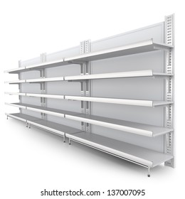 Shelf. 3d image at an angle