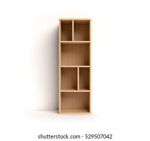 shelf font 3d rendering letter I