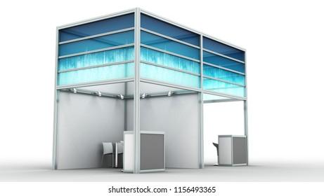 Exhibition Booth Shell Scheme : Shell scheme d rendering d illustration stock illustration