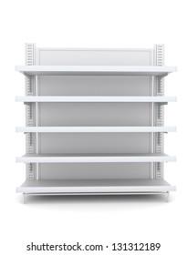 Shelves. 3d image