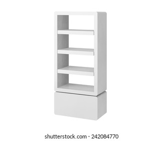 shelves design on white background