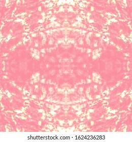 Shibori Pattern. Color Mess. Hand Painted Colours. Shibori Boundless Backdrop. Pink,White,Gold Ethnic Cloth Decoration. Traditional Boho Ornament. Nice Shibori Pattern.