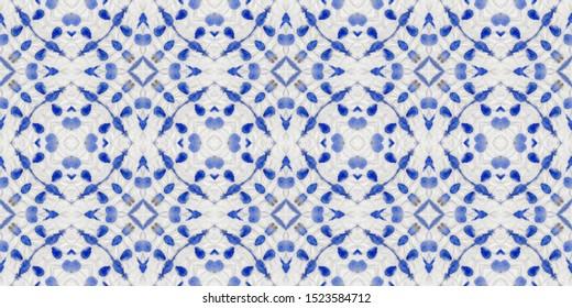 Shibori pattern. Suminagashi seamless print. Modern ink artwork, white winter theme. Tunisian blue brocade, folk pottery. Crumpled paper. American indigo fabric. Gift paper. Japanese shibori pattern.
