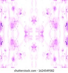 Shibori Pattern. Watercolor Shade. Digital Brush. Infinite Hippie Canvas. Violet,White Ink Textured Shibori Style. Psychedelic Colors Wallpaper. Mess Shibori Pattern.