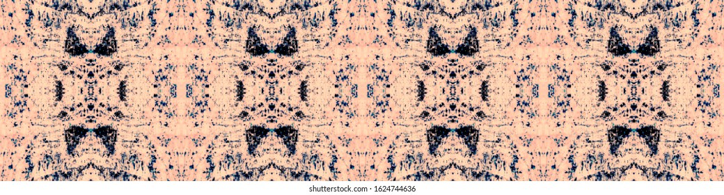 Shibori Print. Liquid Watercolor Effect. Tie Paint. Continuous Illustration. Shibori Organic Retro Style. Urban Abstract Wallpaper. Pink,Black,Indigo Folk Shibori Print.